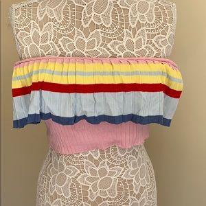 FASHIONOVA rainbow off the shoulder top